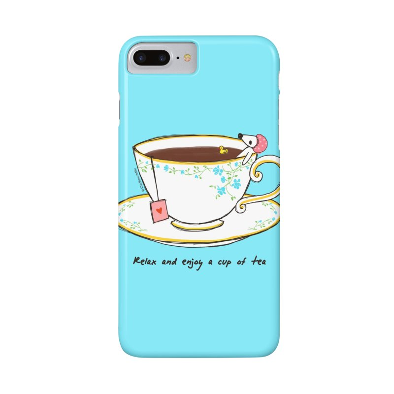 Relax & Enjoy a Cup of Tea Accessories Phone Case by Dollgift by Charllotte Ashlie