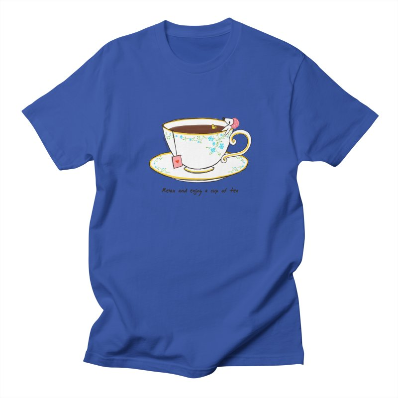 Relax & Enjoy a Cup of Tea Women's Unisex T-Shirt by Dollgift by Charllotte Ashlie