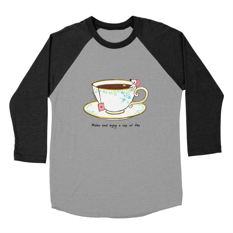 Relax & Enjoy a Cup of Tea Women's Baseball Triblend T-Shirt by Dollgift by Charllotte Ashlie
