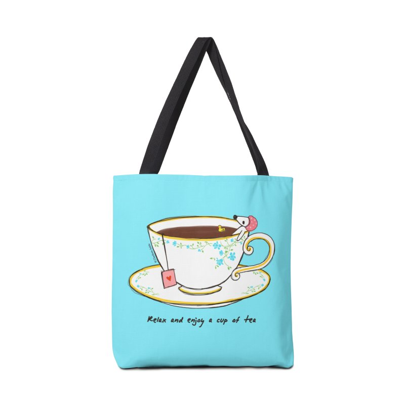 Relax & Enjoy a Cup of Tea Accessories Bag by Dollgift by Charllotte Ashlie