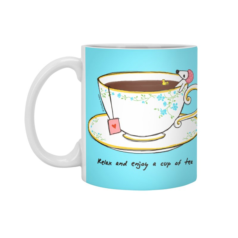 Relax & Enjoy a Cup of Tea Accessories Mug by Dollgift by Charllotte Ashlie