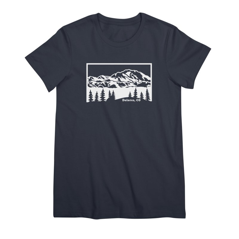Colorado Mountains Women's Premium T-Shirt by dolores outfitters's Artist Shop