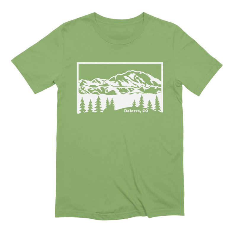 Colorado Mountains Men's Extra Soft T-Shirt by dolores outfitters's Artist Shop