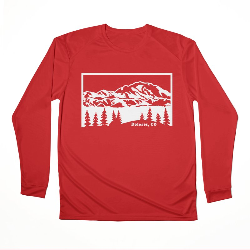 Colorado Mountains Men's Performance Longsleeve T-Shirt by dolores outfitters's Artist Shop