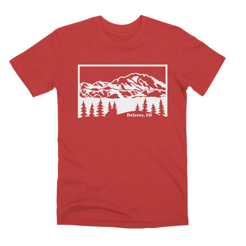 Colorado Mountains Men's Premium T-Shirt by dolores outfitters's Artist Shop
