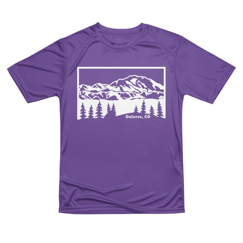 Colorado Mountains Men's Performance T-Shirt by dolores outfitters's Artist Shop