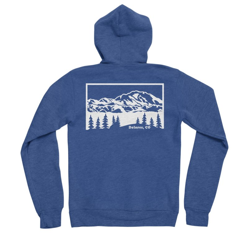 Colorado Mountains Women's Sponge Fleece Zip-Up Hoody by dolores outfitters's Artist Shop