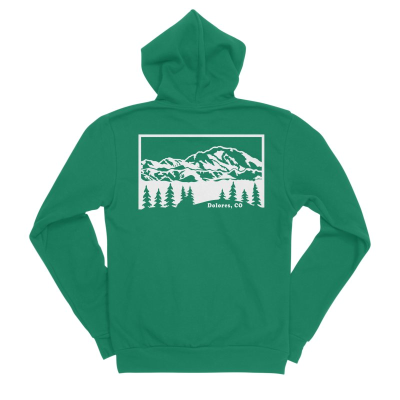 Colorado Mountains Women's Sponge Fleece Zip-Up Hoody by dolores outfitters's Artist Shop