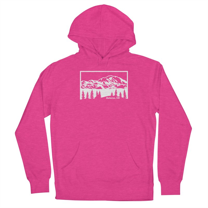 Colorado Mountains Women's French Terry Pullover Hoody by dolores outfitters's Artist Shop