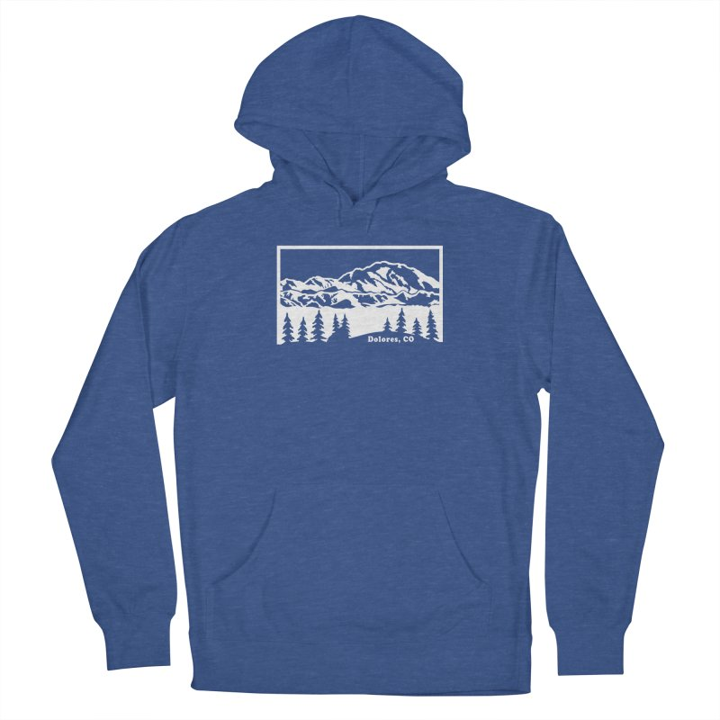 Colorado Mountains Men's French Terry Pullover Hoody by dolores outfitters's Artist Shop