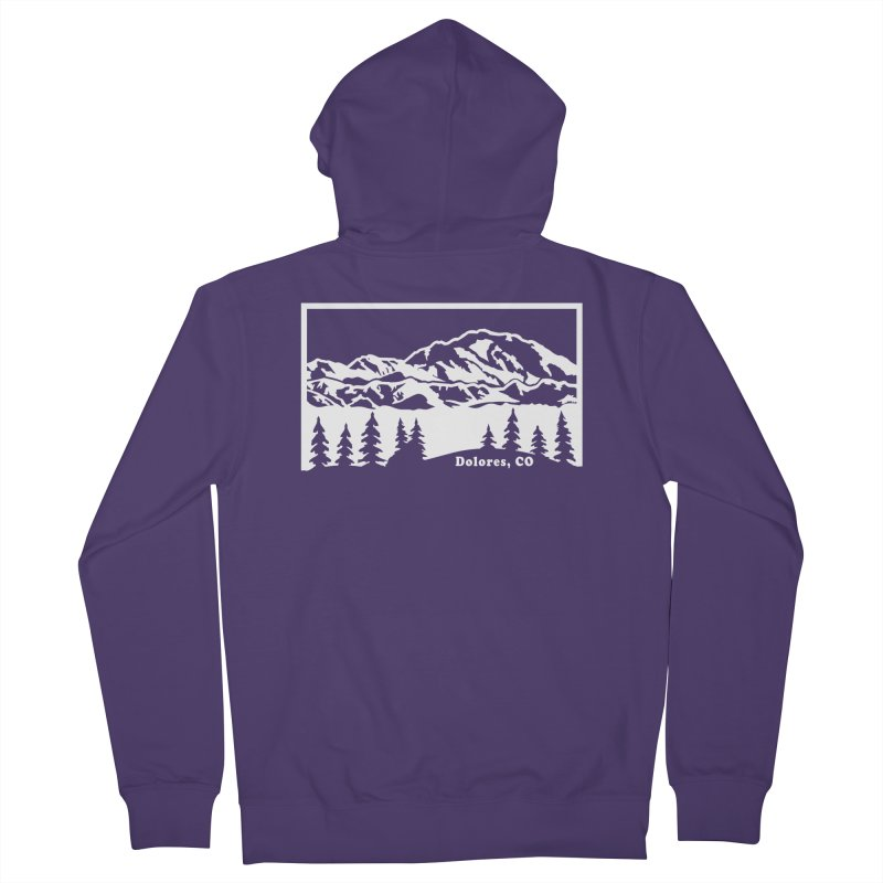 Colorado Mountains Women's French Terry Zip-Up Hoody by dolores outfitters's Artist Shop