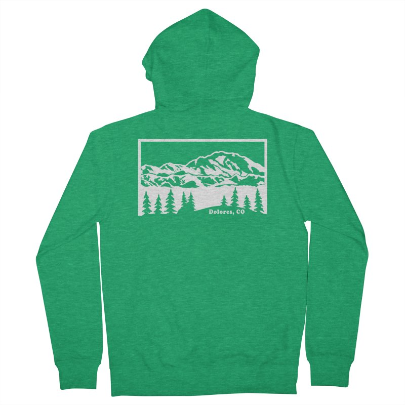 Colorado Mountains Men's Zip-Up Hoody by dolores outfitters's Artist Shop