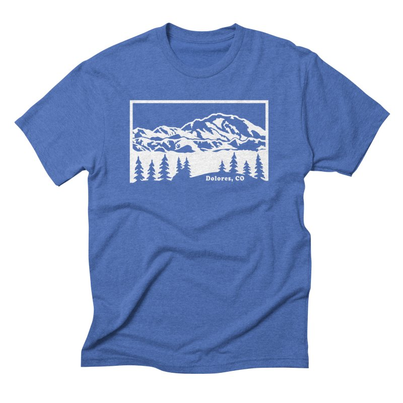 Colorado Mountains Men's T-Shirt by dolores outfitters's Artist Shop
