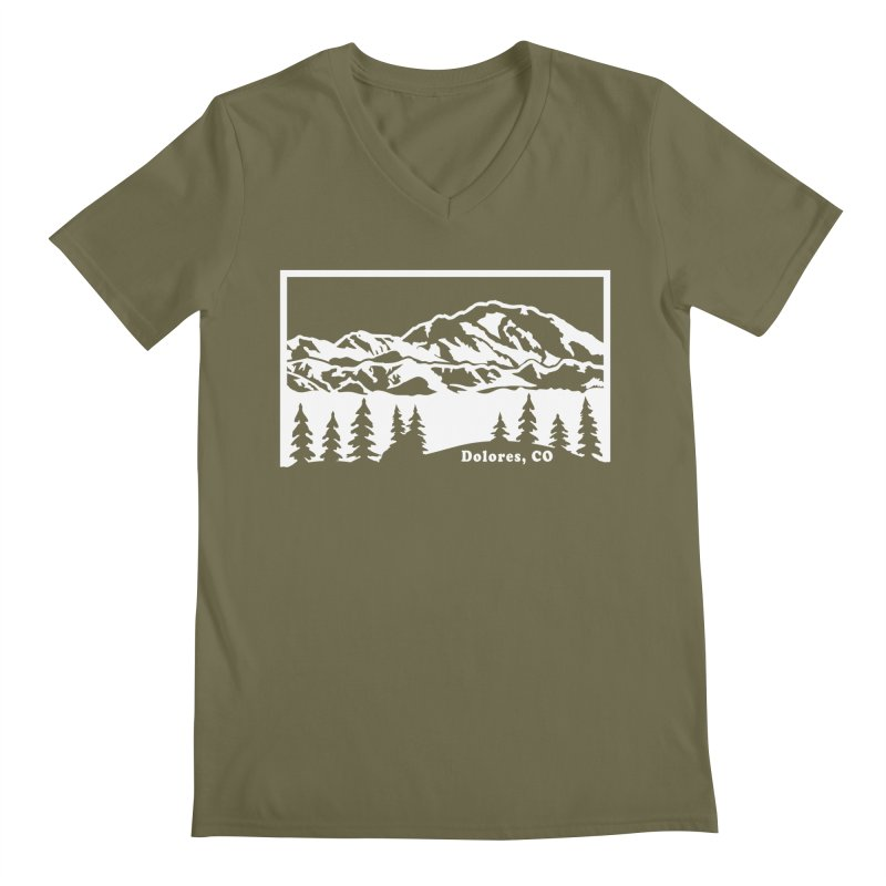 Colorado Mountains Men's Regular V-Neck by dolores outfitters's Artist Shop