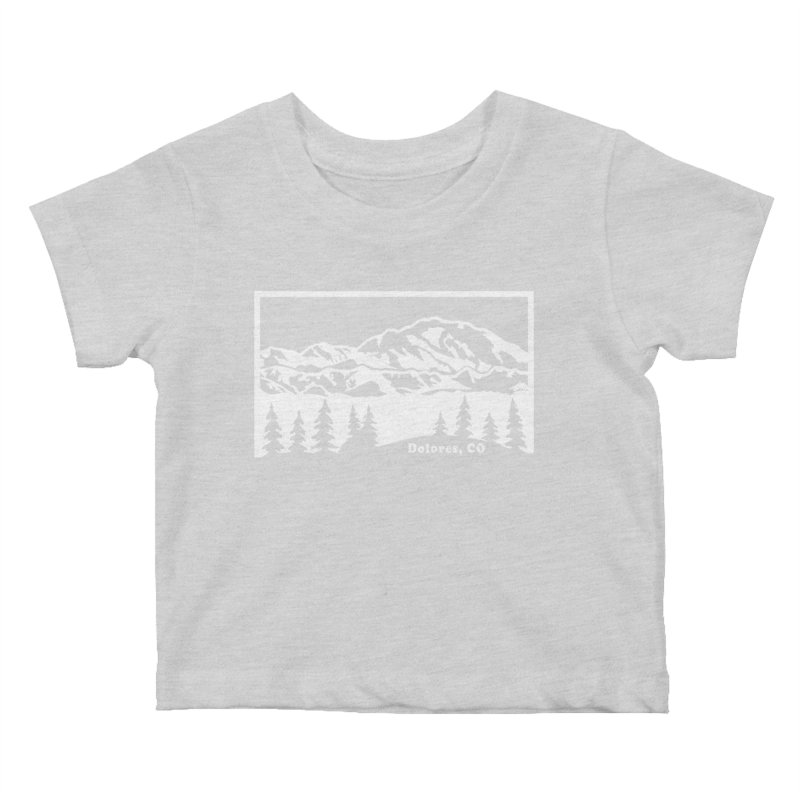 Colorado Mountains Kids Baby T-Shirt by dolores outfitters's Artist Shop