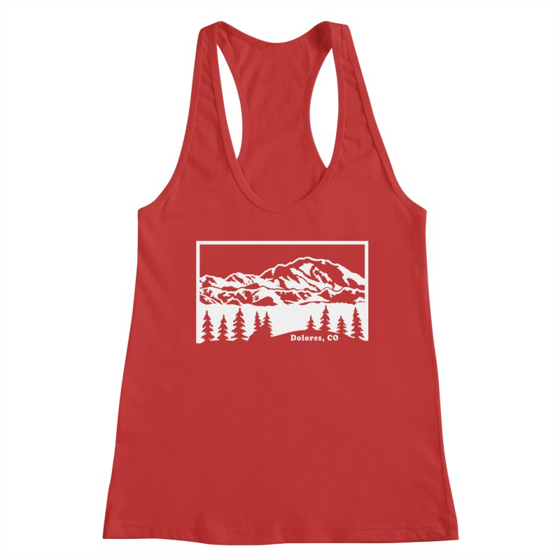 Colorado Mountains Women's Racerback Tank by dolores outfitters's Artist Shop