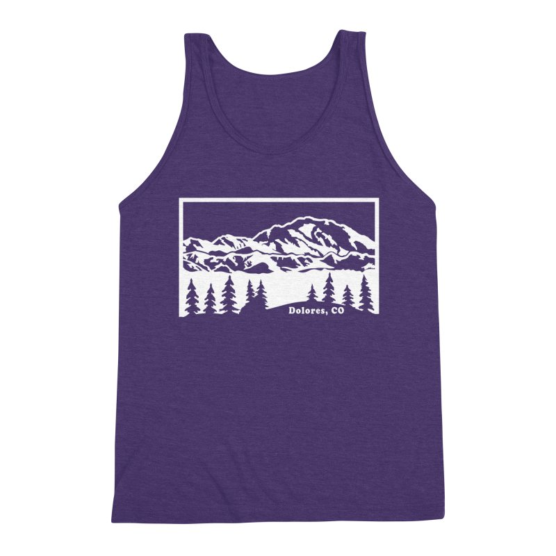 Colorado Mountains Men's Triblend Tank by dolores outfitters's Artist Shop