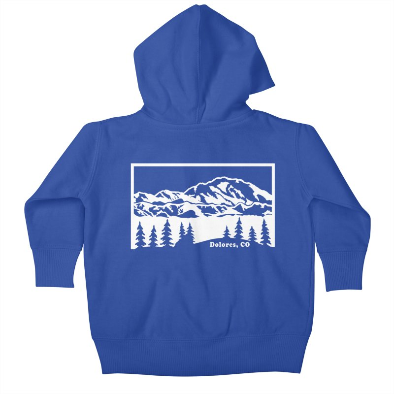Colorado Mountains Kids Baby Zip-Up Hoody by dolores outfitters's Artist Shop