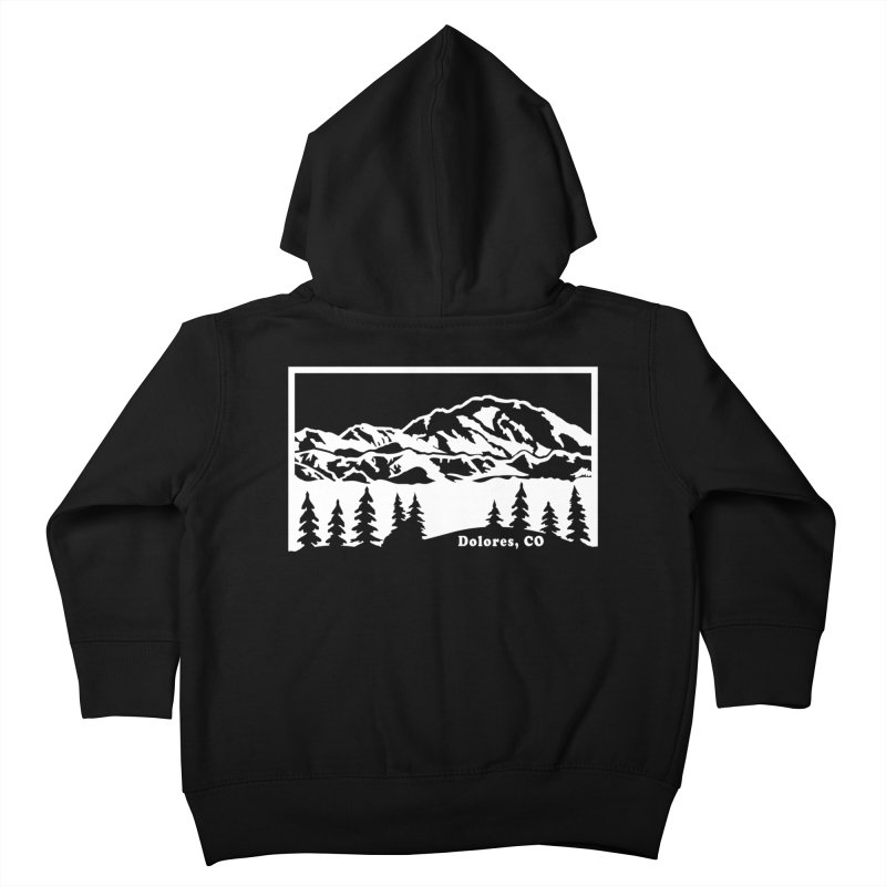Colorado Mountains Kids Toddler Zip-Up Hoody by dolores outfitters's Artist Shop