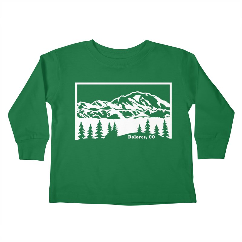 Colorado Mountains Kids Toddler Longsleeve T-Shirt by dolores outfitters's Artist Shop