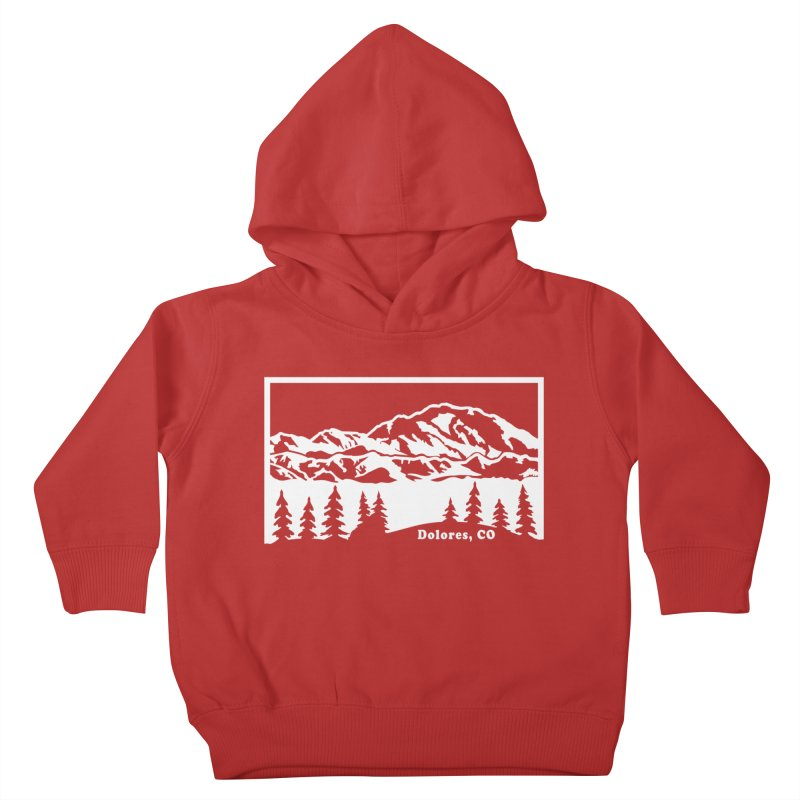 Colorado Mountains Kids Toddler Pullover Hoody by dolores outfitters's Artist Shop