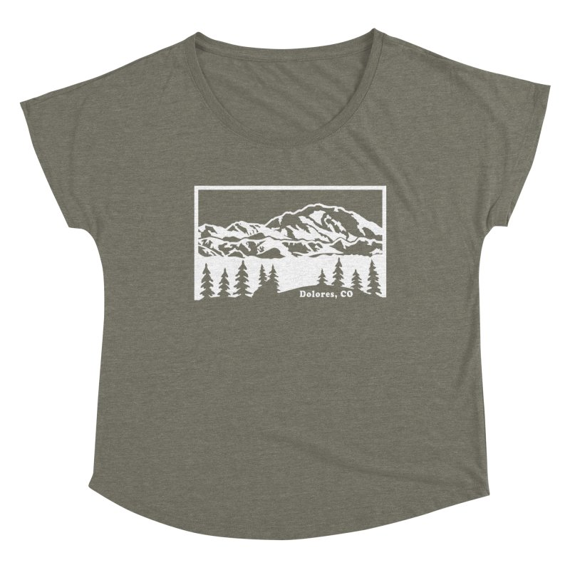 Colorado Mountains Women's Dolman Scoop Neck by dolores outfitters's Artist Shop