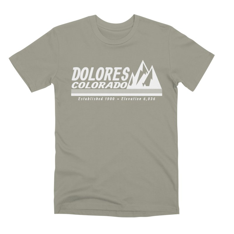 Dolores Colorado Elev. Men's Premium T-Shirt by dolores outfitters's Artist Shop