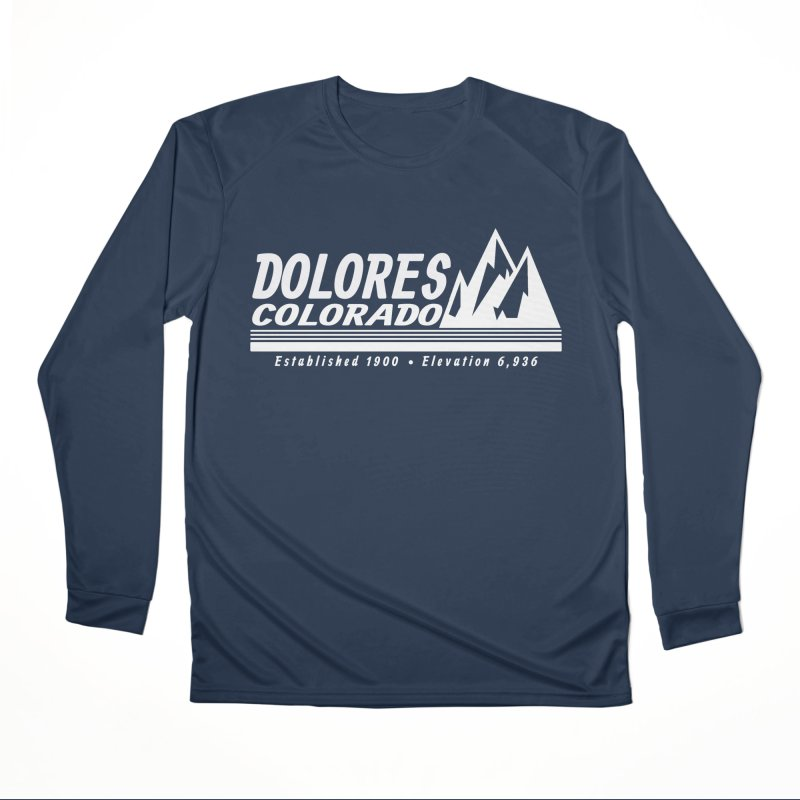 Dolores Colorado Elev. Men's Performance Longsleeve T-Shirt by dolores outfitters's Artist Shop