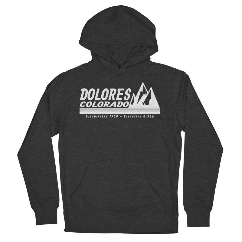 Dolores Colorado Elev. Men's French Terry Pullover Hoody by dolores outfitters's Artist Shop