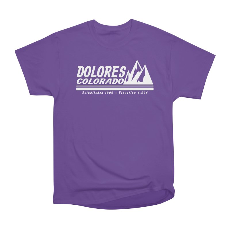 Dolores Colorado Elev. Men's Heavyweight T-Shirt by dolores outfitters's Artist Shop