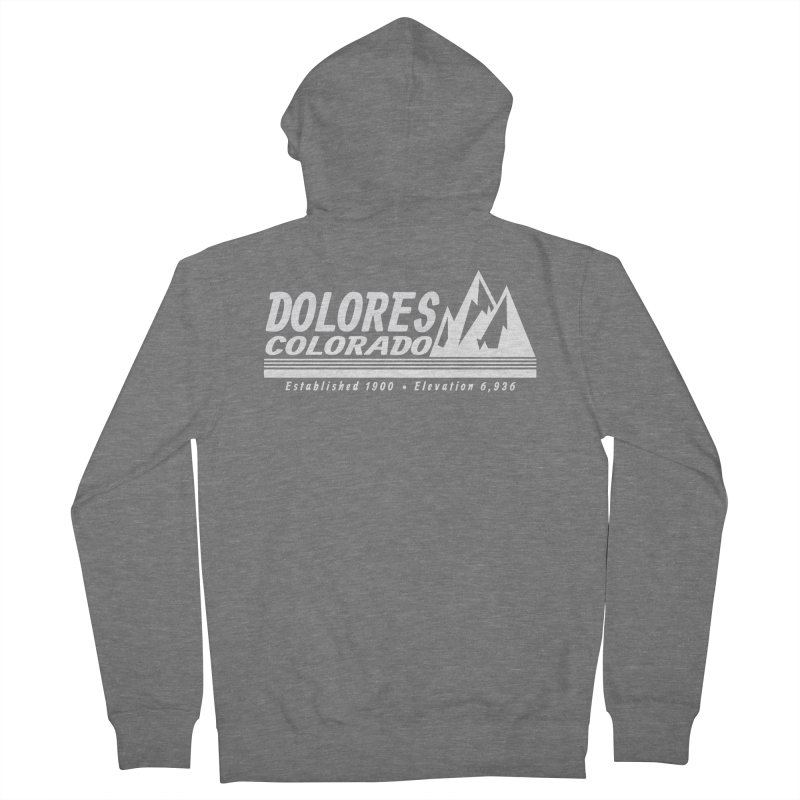 Dolores Colorado Elev. Women's French Terry Zip-Up Hoody by dolores outfitters's Artist Shop