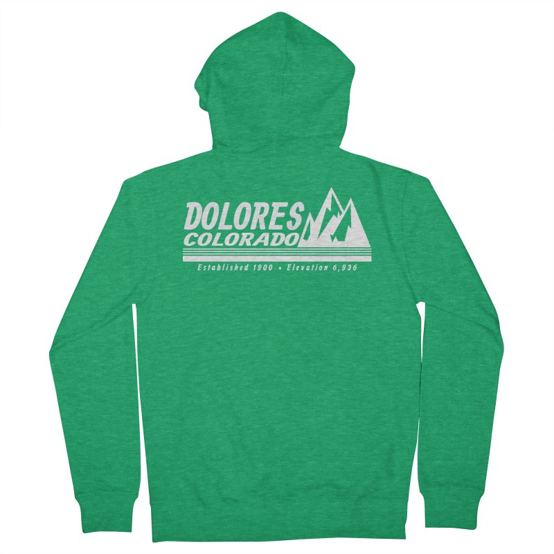 Dolores Colorado Elev. Men's Zip-Up Hoody by dolores outfitters's Artist Shop