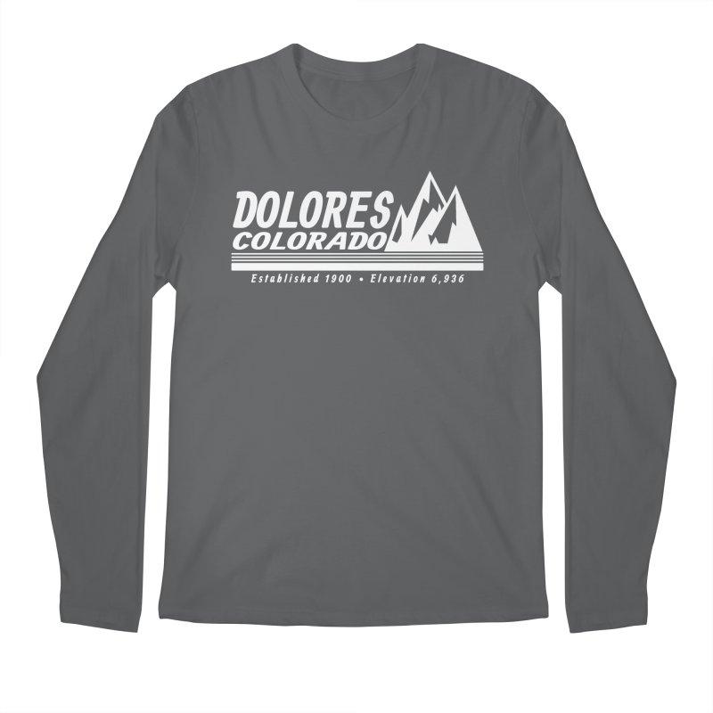 Dolores Colorado Elev. Men's Longsleeve T-Shirt by dolores outfitters's Artist Shop