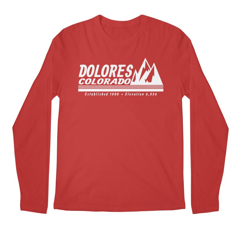 Dolores Colorado Elev. Men's Regular Longsleeve T-Shirt by dolores outfitters's Artist Shop