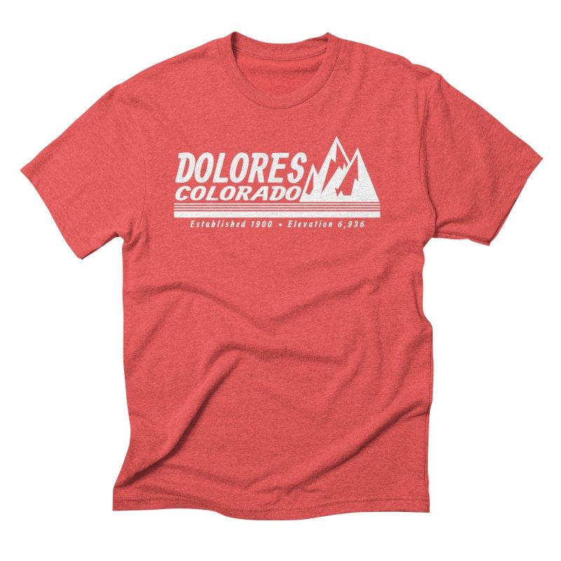 Dolores Colorado Elev. Men's Triblend T-Shirt by dolores outfitters's Artist Shop