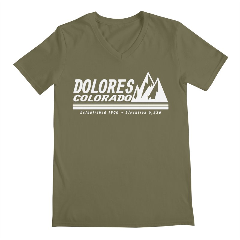 Dolores Colorado Elev. Men's Regular V-Neck by dolores outfitters's Artist Shop