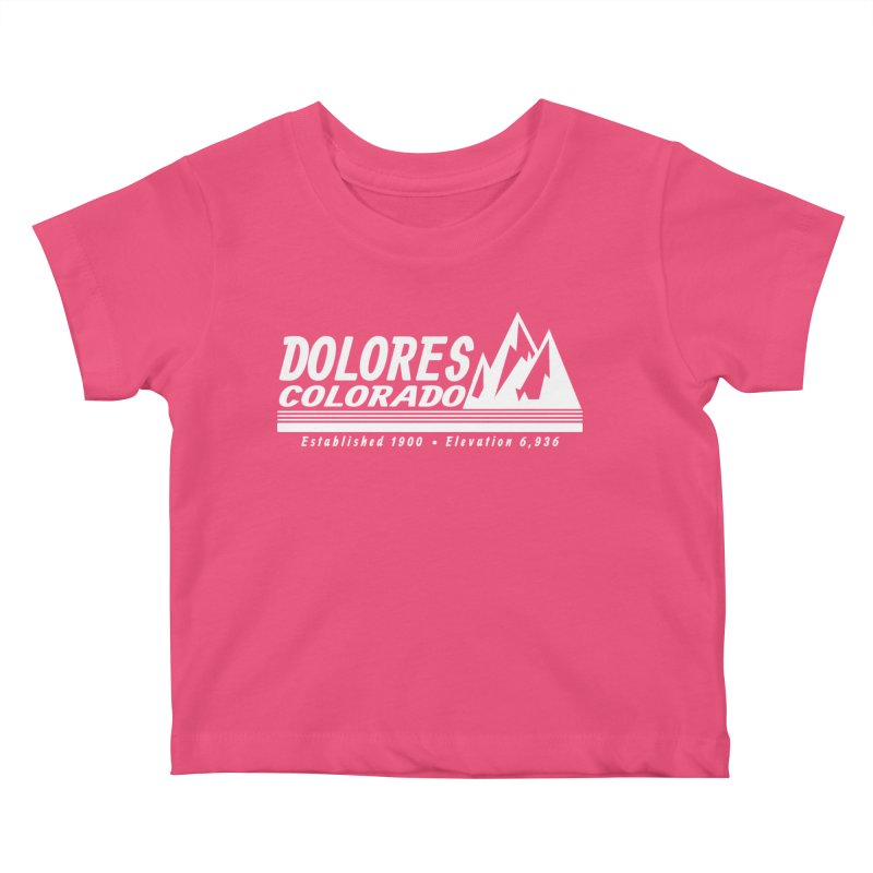 Dolores Colorado Elev. Kids Baby T-Shirt by dolores outfitters's Artist Shop
