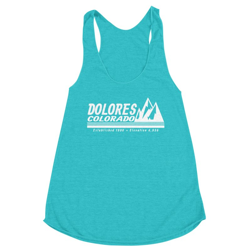 Dolores Colorado Elev. Women's Racerback Triblend Tank by dolores outfitters's Artist Shop