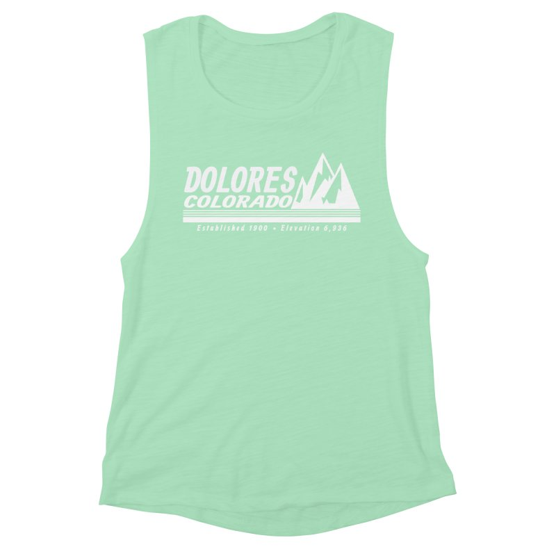 Dolores Colorado Elev. Women's Muscle Tank by dolores outfitters's Artist Shop