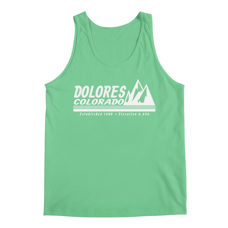 Dolores Colorado Elev. Men's Regular Tank by dolores outfitters's Artist Shop