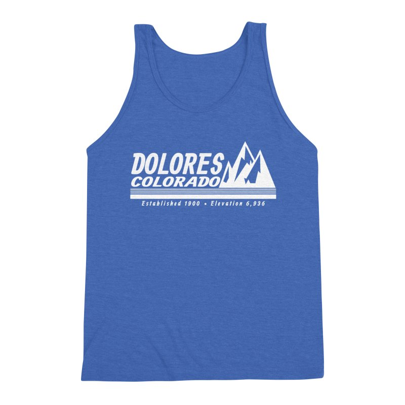 Dolores Colorado Elev. Men's Triblend Tank by dolores outfitters's Artist Shop