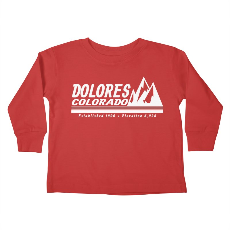 Dolores Colorado Elev. Kids Toddler Longsleeve T-Shirt by dolores outfitters's Artist Shop
