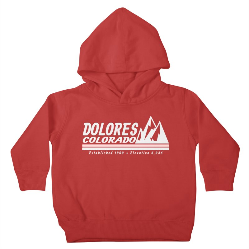 Dolores Colorado Elev. Kids Toddler Pullover Hoody by dolores outfitters's Artist Shop