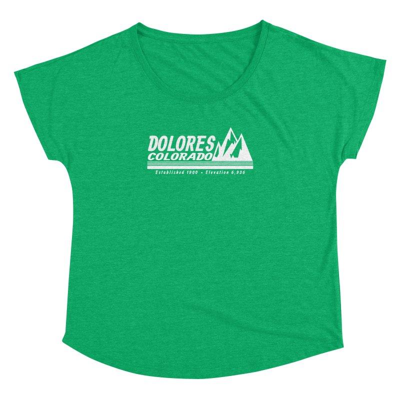 Dolores Colorado Elev. Women's Dolman Scoop Neck by dolores outfitters's Artist Shop