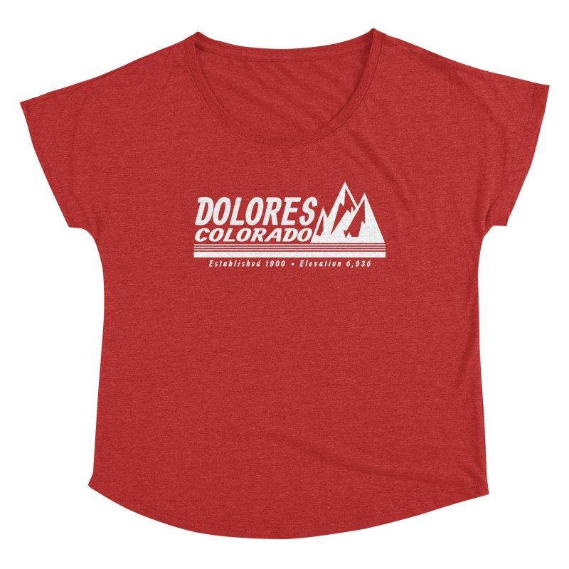 Dolores Colorado Elev. Women's Dolman Scoop Neck by dolores outfitters's Artist Shop