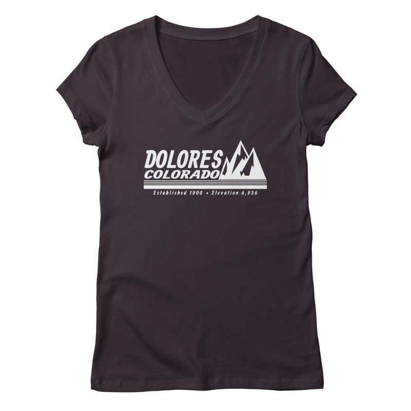Dolores Colorado Elev. Women's Regular V-Neck by dolores outfitters's Artist Shop
