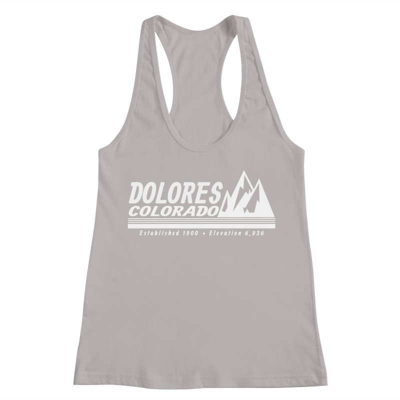 Dolores Colorado Elev. Women's Racerback Tank by dolores outfitters's Artist Shop