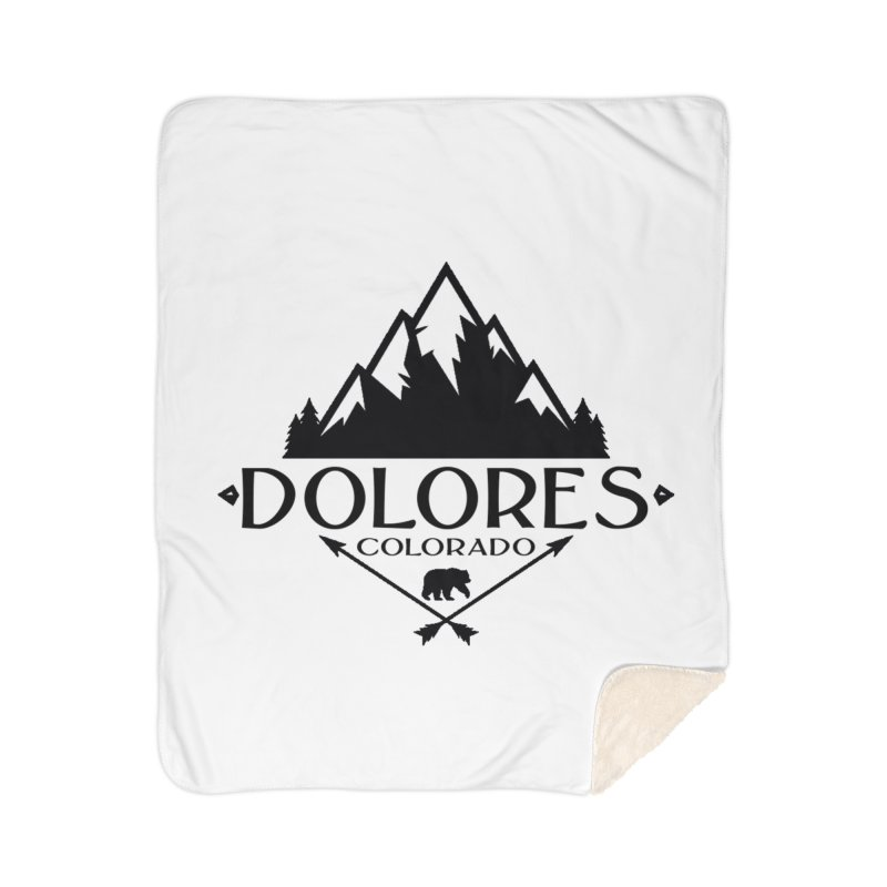 Dolores Colorado Bear Badge Home Sherpa Blanket Blanket by dolores outfitters's Artist Shop