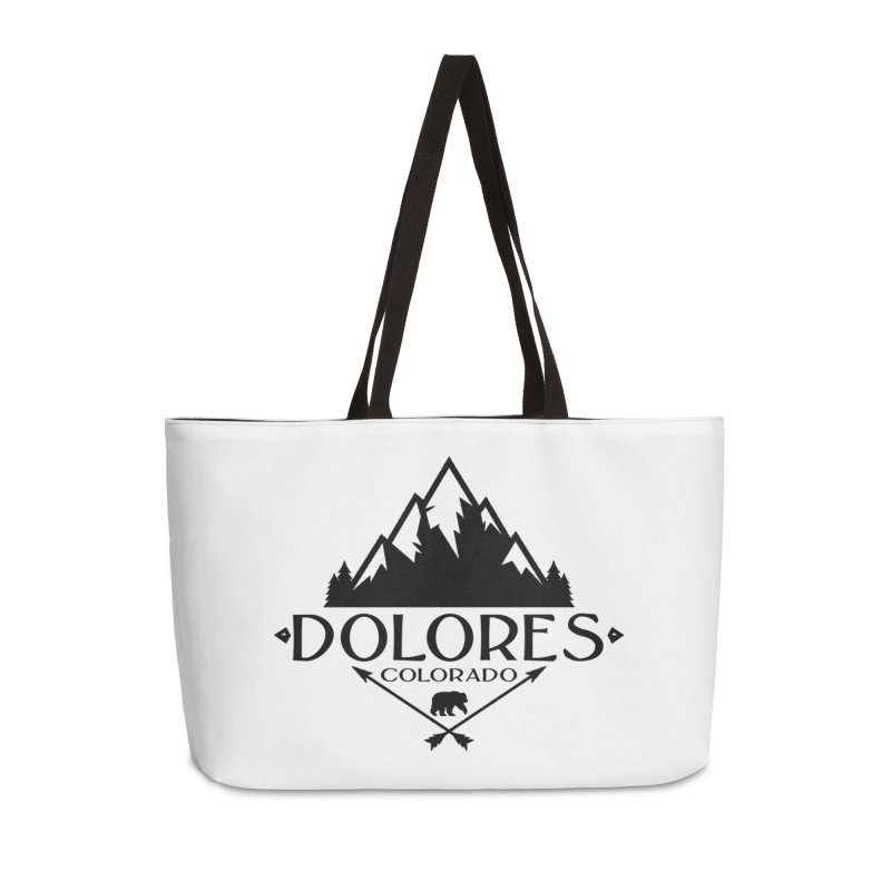 Dolores Colorado Bear Badge Accessories Weekender Bag Bag by dolores outfitters's Artist Shop