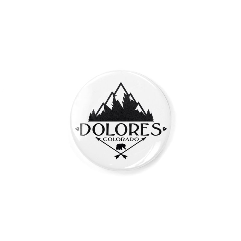 Dolores Colorado Bear Badge Accessories Button by dolores outfitters's Artist Shop